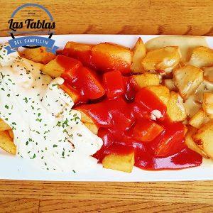 patatas fritas tres salsas
