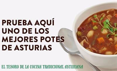 tipico plato asturiano pote
